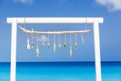 Eingangstor zum sandigen Strand Lizenzfreies Stockfoto