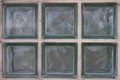 Eingebaute Glasblöcke Stockfoto