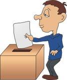 Eingeben einer Abstimmung Lizenzfreies Stockfoto