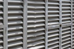 Eingebeulte Alluminum-Grills Stockbilder