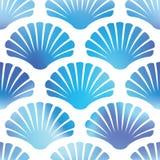 Eingebildete dekorative Muscheln Tapetenbeschaffenheitshintergrund Vektornahtlose Muster Lizenzfreie Stockfotografie