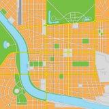 Eingebildete Stadt-Vektor-Karte Stockbilder