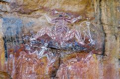 Eingeborene Felsen-Kunst stockbilder