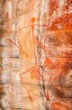 Eingeborene Felsen-Kunst an Nourlangie - Nationalpark Kakadu, Australien stockfotografie