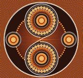 Eingeborener Kunstvektorhintergrund lizenzfreies stockbild