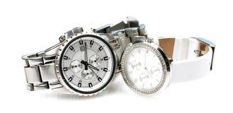 Eingebrannte Armbanduhren Stockbilder