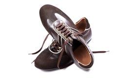 Eingebrannte beiläufige Schuhe Stockfotos