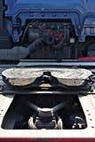 Eingefetteter LKW-Koppelungsmechanismus Stockfoto