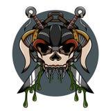 Eingefleischte Illustration des Schädeldämons Lizenzfreies Stockfoto