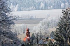Eingefroren in Ostböhmen lizenzfreies stockfoto