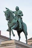 Eingehangene Statue des Kaisers Maximilian Stockfotografie