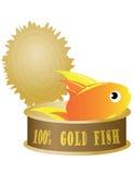 Eingemachter Thunfisch mit Fischen Lizenzfreie Stockfotos