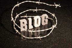 Eingeschränkte Freiheit von blogging Lizenzfreies Stockbild