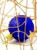 Eingesperrte Weihnachtskugel Stockbilder