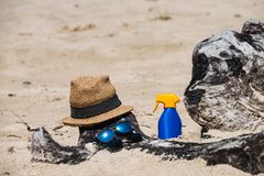 Eingestellt für einen Strand lizenzfreie stockbilder