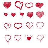 Eingestellt in Form des Herzens lizenzfreie abbildung