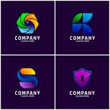 Eingestellt vom Geschäft Logo Design stock abbildung