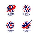 Eingestellt von der Ball-Vektor-Ikone lizenzfreie abbildung