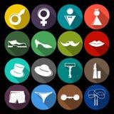 Eingestellte Ebene des Geschlechtes Ikonen Lizenzfreies Stockbild