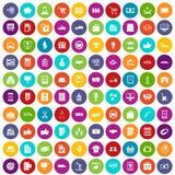 100 eingestellte Farbe des Geschäfts Ikonen Lizenzfreie Stockfotografie