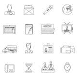 Eingestellter Entwurf der Nachrichten Ikonen Stockbild