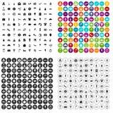 100 eingestellter Vektor der Flitterwochen Ikonen verschieden vektor abbildung