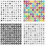 100 eingestellter Vektor der Frühlingsfeiertage Ikonen verschieden Stockbilder