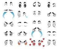 Eingestellter Vektor der Karikatur der Sammlung nette Augen Stockfotos