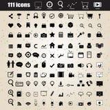 Eingestellter Vektor des Webdesigns Ikonen Lizenzfreie Stockfotografie