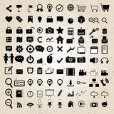 Eingestellter Vektor des Webdesigns Ikonen Lizenzfreie Stockbilder