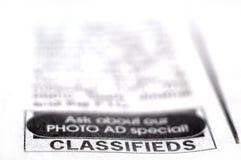 Eingestufte Anzeige Lizenzfreie Stockfotografie