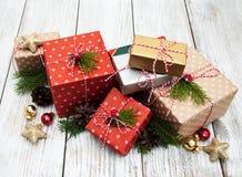 eingewickelte Geschenke stockbild