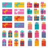 Eingewickelte Geschenke lizenzfreie abbildung