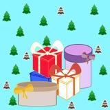 eingewickelte Geschenke Stockfotos