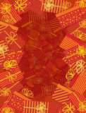 Eingewickelte Geschenke fassen Rot ein Lizenzfreies Stockbild