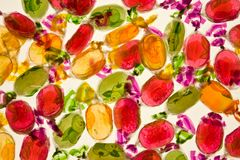Eingewickelte harte Süßigkeiten stockfoto
