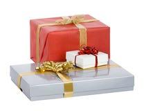 Eingewickelte Weihnachtsgeschenke! Stockbild