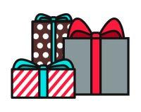 Eingewickelte Weihnachtsgeschenke - Vektorgrafik vektor abbildung