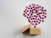 Eingewickelte Weinlesegeschenkbox Kopieren Sie Platz Stockfotos