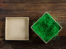 Eingewickelte Weinlesegeschenkbox Kopieren Sie Platz Lizenzfreie Stockfotos