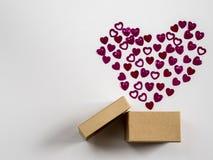Eingewickelte Weinlesegeschenkbox Kopieren Sie Platz Stockbilder