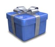 Eingewickeltes blaues Geschenk 3D v3 Lizenzfreies Stockfoto