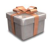Eingewickeltes braunes Geschenk 3D Lizenzfreie Stockfotografie