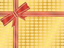 Eingewickeltes Geschenk mit Bogen stock abbildung