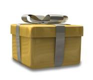 Eingewickeltes Goldgelbgeschenk 3D v2 Lizenzfreie Stockfotos