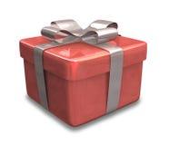 Eingewickeltes rotes Geschenk 3D Lizenzfreies Stockfoto