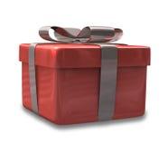 Eingewickeltes rotes Geschenk 3D v2 Lizenzfreies Stockbild