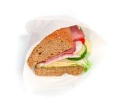Eingewickeltes Sandwich lizenzfreies stockfoto