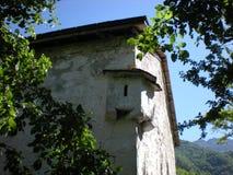 Einheimische Architektur in den albanischen Hochländern Theth stockbild