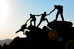 Einheit, abgehobener Betrag und Teamgeist stockfoto